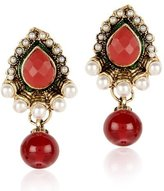 Exclusive Jewellery White Pearl Stone Gold Plated Beautiful Party Wear Women & girls Earring
