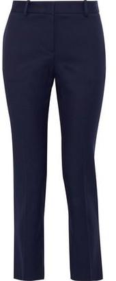 Roberto Cavalli Cropped Cotton-blend Slim-leg Pants