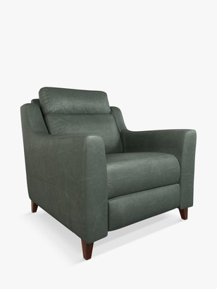 John Lewis & Partners Elevate Leather Armchair, Dark Leg