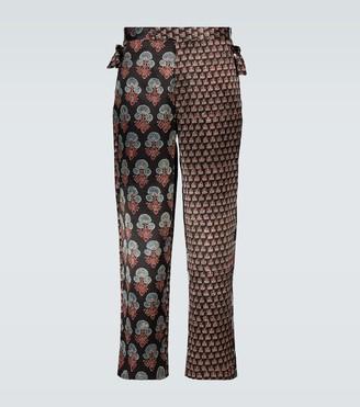 Bode Duo block-printed silk pants