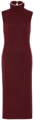 Loewe Embellished cashmere midi dress