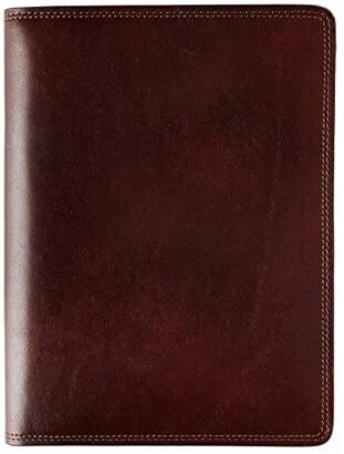 Bosca Dolce Writer's Journal - Medium (Dark Brown) Wallet