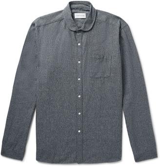 Oliver Spencer Eton Penny-Collar Melange Cotton Shirt - Men - Gray