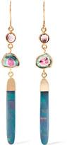 Melissa Joy Manning 14-karat Gold, Opal And Tourmaline Earrings