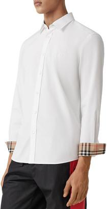 Burberry Men's Sherwood Vintage Contrast-Reverse Sport Shirt