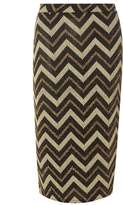 Dorothy Perkins Gold Zig Zag Tube Skirt