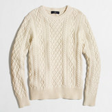 J.Crew Factory Tall fisherman cable crewneck sweater
