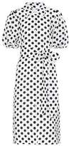 Lisa Marie Fernandez Polka-dot linen shirt dress