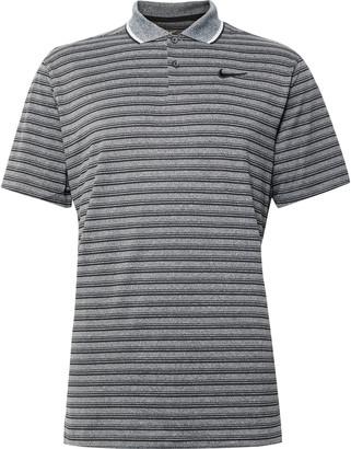 Nike Vapor Contrast-Tipped Striped Dri-Fit Golf Polo Shirt