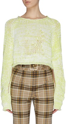 Contrast mouline cropped sweater