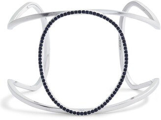 Sole Society Pave Crystal Wired Open Cuff Bracelet