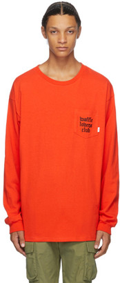 Vans Red WTAPS Edition Waffle Lovers Club Long Sleeve T-Shirt