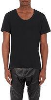 En Noir Men's Cotton-Cashmere Crewneck T-Shirt-BLACK