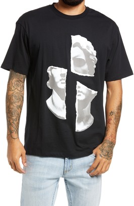 Topman Face Collage Graphic Tee