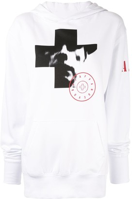 A.F.Vandevorst photographic print hoodie