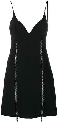 David Koma Crystal Stripe Detail Dress