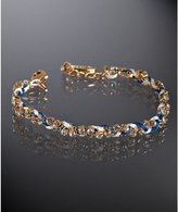 blue and white crystal silk combo braided bracelet