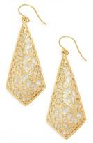 Argentovivo Triangular Drop Earrings