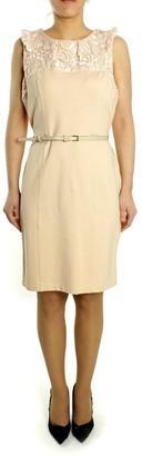 Darling Viscose and Nylon Rose Stick Dress - L - Natural
