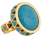 House Of Harlow Turquoise Heirloom Ring