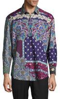 Robert Graham Masolino Printed Cotton Button-Down Shirt