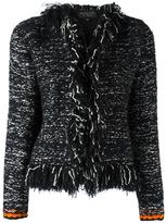 Giambattista Valli frayed seam jacket - women - Silk/Polyamide/Polyester/Wool - 46