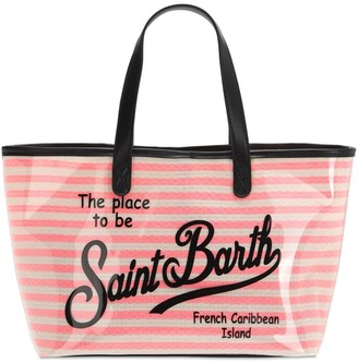 MC2 Saint Barth Logo Coated Cotton Beach Bag & Zip Pouch