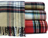 The Well Appointed House Classic Tartan Plaid Fringed Throw-Available in Three Different Colors-Can be Personalized