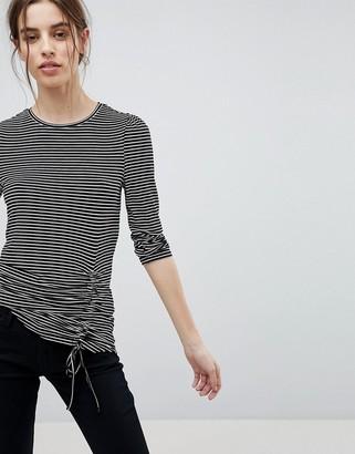 Esprit Stripe Gathered Top