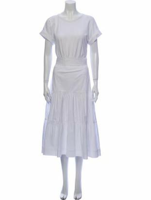 Veronica Beard Scoop Neck Long Dress w/ Tags White