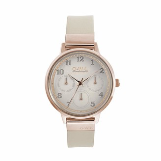 OWL Women's Analogue Japanese Quartz Watch with Stainless Steel Strap H8SRM