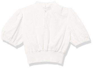 Finders Keepers findersKEEPERS Women's Short Sleeve Ditsy Doo Mock Neck Eyelet Crop Top