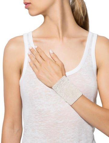 Maison Margiela Textured Rectangular Cuff Bracelet
