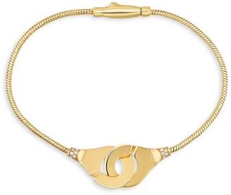 Dinh Van Menottes 18K Yellow Gold & Diamond Snake-Chain Bracelet