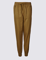 M&S Collection Linen Rich Drawstring Joggers