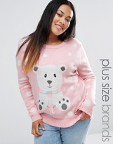 Brave Soul Plus 3D Polar Bear Holidays Sweater