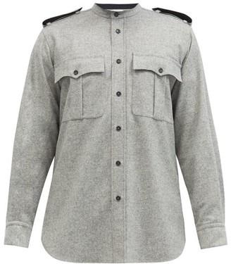Jil Sander Patch-pocket Wool-blend Flannel Shirt - Grey