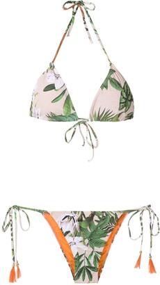 BRIGITTE Printed Triangle Bikini Set