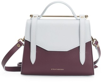 Strathberry Mini Allegro Bi-Color Leather Satchel