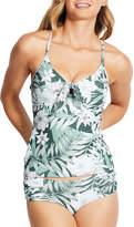 Seafolly Tie-Front Printed Tankini Swim Top