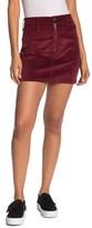Madewell Velour Front Zip Skirt