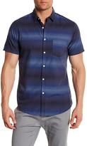 Public Opinion Short Sleeve Stripe Regular Fit Shirt