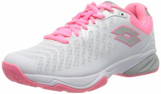 Lotto Women's Space 400 Clay Sandplatzschuh Damen-Wei Rosa (40.5 EU) Tennis Shoes