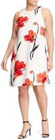 Lauren Ralph Lauren Plus Floral Crepe Shift Dress
