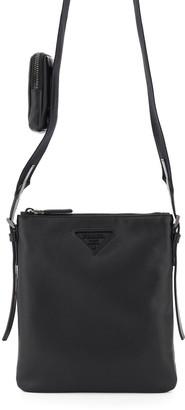 Prada Logo Plaque Soft Shoulder Bag