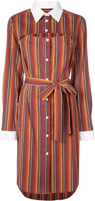 Rosie Assoulin Striped Shirt Dress