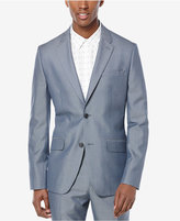 Perry Ellis Men's Bay Blue Iridescent Twill Two-Button Sport Coat