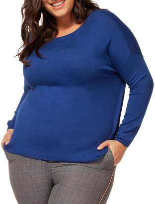 Dex Plus Long-Sleeve Crewneck Sweater
