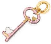 Prada Heart Key Charm, Pink/White (Begonia/Talco)
