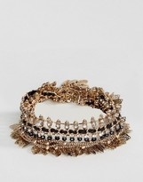 Aldo Gold Leaf Statement Bracelets